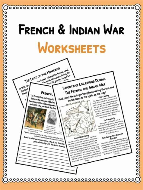 and indian war worksheets indian war facts worksheets for seven