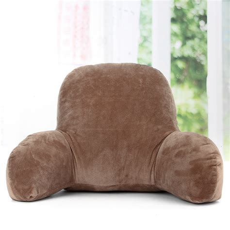 pillow with arms coffee lounger office bed rest back pillow support arm