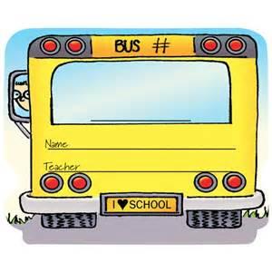 School Buses Name Tags