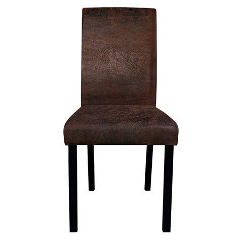 chaise de salon design chaise de salon marron vieilli lot de 2 koya design