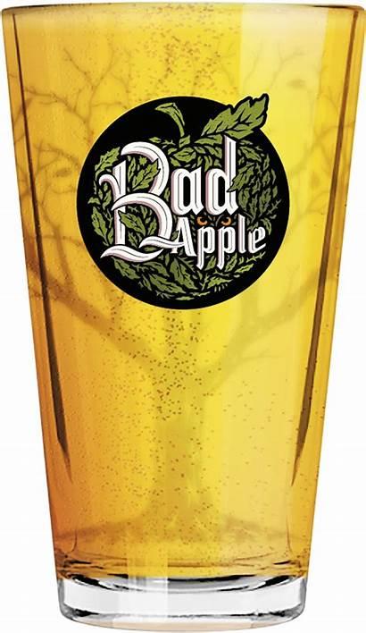 Apple Bad Carlsberg Glass Pint