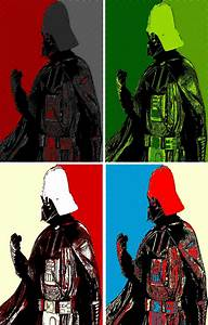 Darth Vader four panel comic print pop art by ...