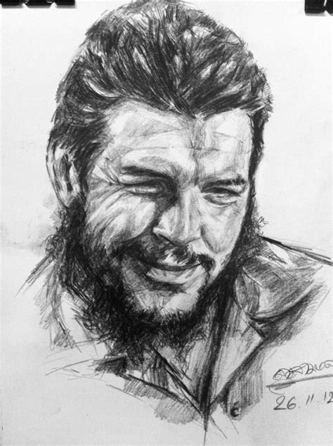 che guevara   pencil drawings drawing people