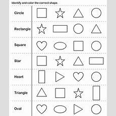 Shapes Kindergarten Worksheets  Shapes Kindergarten Worksheet  Shapes Worksheet Kindergarten