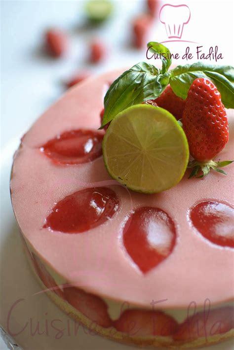 basilic cuisine fraisier citron vert basilic cuisine de fadila