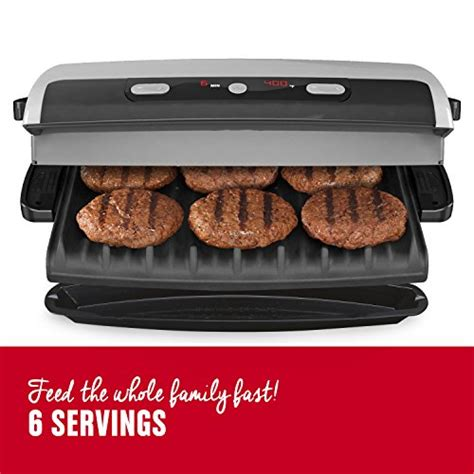 George Foreman 6 Serving Removable Nonstick Plate Countertop Grill by George Foreman 6 Serving Removable Plate Grill And Panini