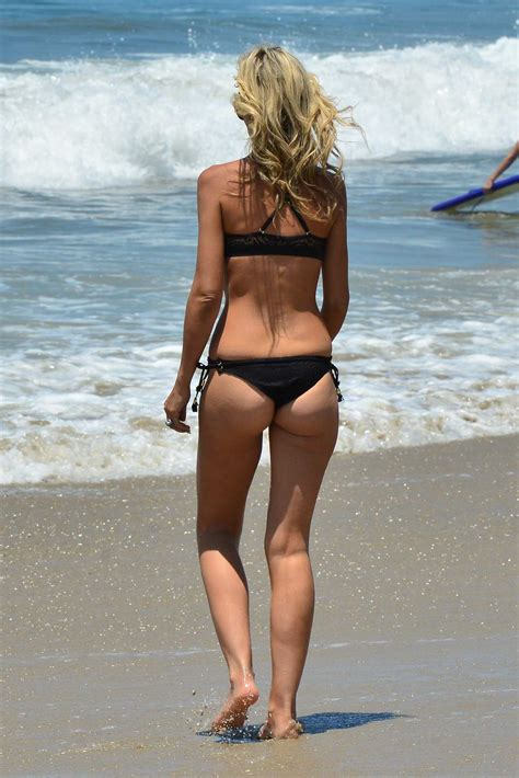 lady victoria hervey in a black bikini is spotted at the ...