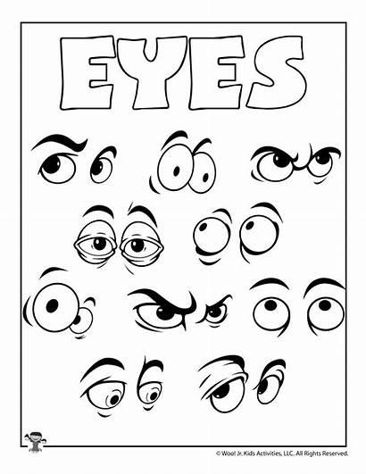 Coloring Eye Eyes Pages Crafts Printable Printables