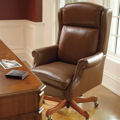 hadley executive leather office chair traditional