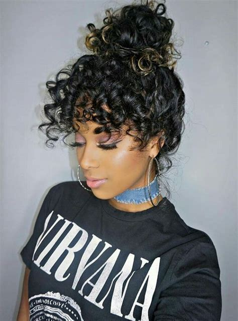 mane addicts curly hair bangs  pinterest    cool