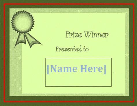 blank winner certificate template  word templates
