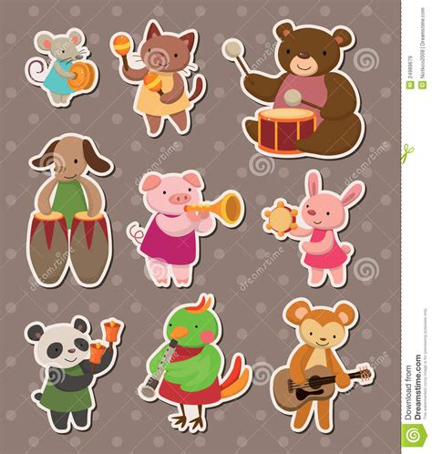 animal play  stickers royalty  stock images