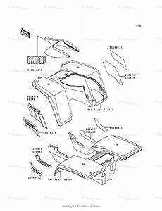 Kawasaki Atv 1988 Oem Parts Diagram For Decal Klf300 B2