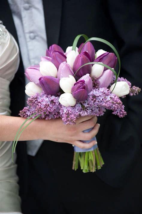 tulips  wedding flowers tulips  lilacs bridal