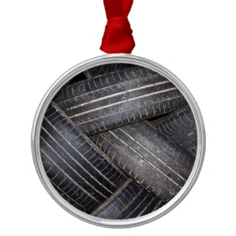 old tires for recycling christmas tree ornaments