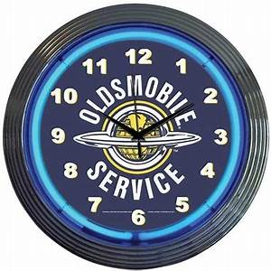 Oldsmobile Service Neon Wall Clock TP Tools & Equipment
