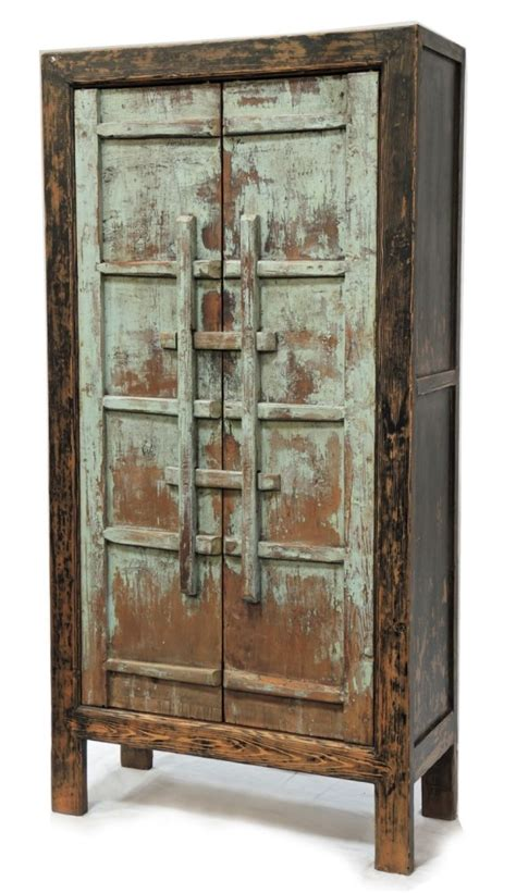 Wood Armoire by Painted Cabinet Light Blue Rustic Reclaimed Wood