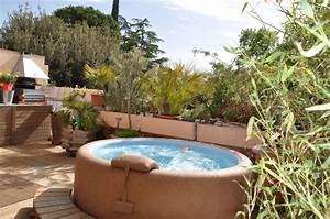 nivremcom terrasse en bois pour jacuzzi diverses With jacuzzi exterieur sur terrasse
