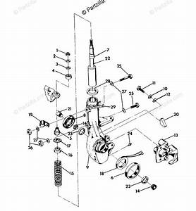 Polaris Atv 1992 Oem Parts Diagram For Strut Assembly 350 4x4