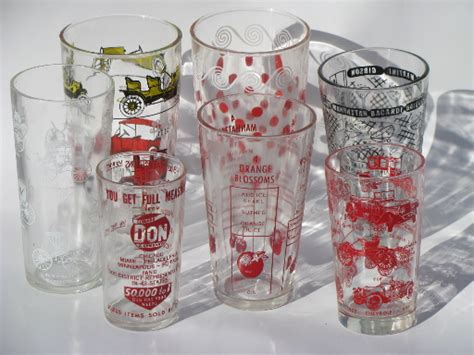 Retro Barware Cocktail Shaker Recipe Measures, Drinks