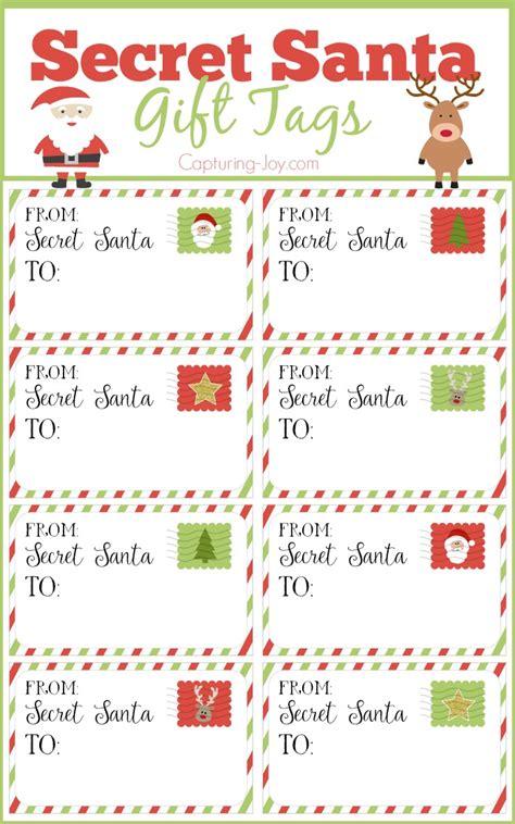 secret santa christmas label festival collections