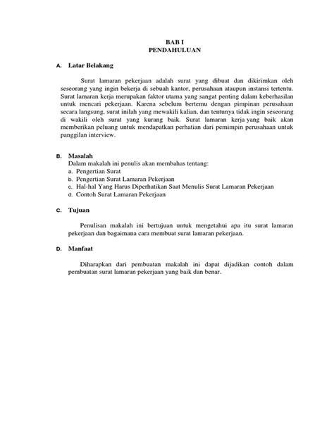 Surat Lamaran Pekerjaan Docx by Surat Lamaran Pekerjaan Docx