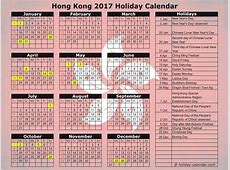 2017 calendar hong kong with public holidays list 2019
