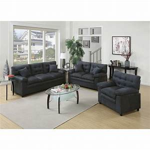Poundex bobkona colona 3 piece living room set reviews for A living room set
