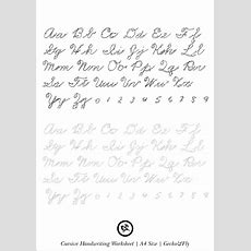 5 Printable Cursive Handwriting Worksheets For Beautiful Penmanship