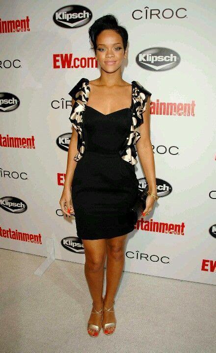 Pin By Thrifty Nikki On Dresses Rihanna Black Dress