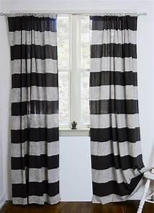 Vorhang Schwarz Weiß Gestreift : gardinen ideen inspiriert von den letzten gardinen trends ~ Watch28wear.com Haus und Dekorationen