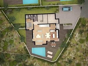 Grundriss Villa Modern : moderne h user grundriss mit pool ~ Lizthompson.info Haus und Dekorationen