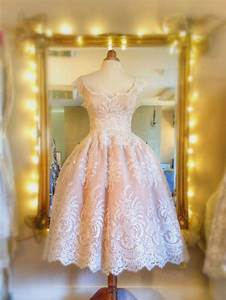 joanne fleming design peaches and creama delicious With tea length blush wedding dress