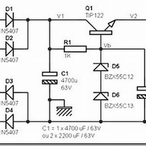 24 Volt Dc Power Supply Circuit Diagram Schematic
