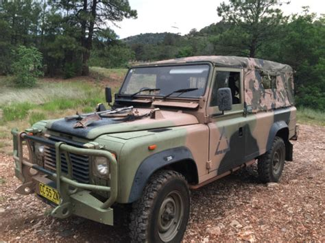 land rover military defender land rover defender 110 1988 camo for sale