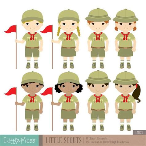 17 Best images about Scout girl digital clip art on Pinterest