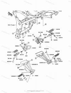 Kawasaki Motorcycle 2010 Oem Parts Diagram For Footrests