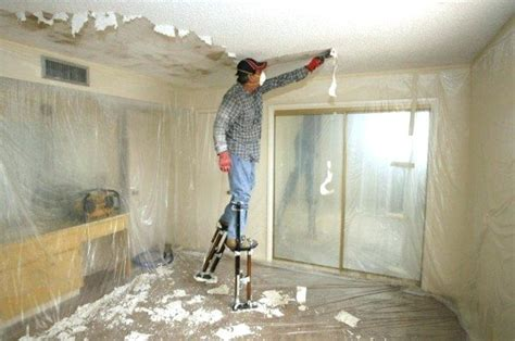 guide  removing popcorn ceilings  money pit