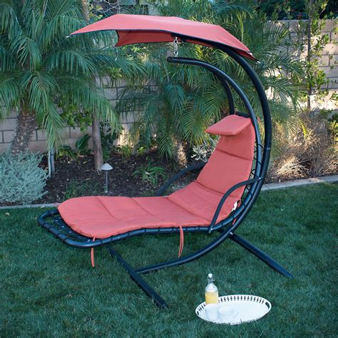 new swing hammock chair canopy hanging chaise lounger
