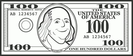 five dollar bill clipart black and white inspirational of dollar bill clipart black and white