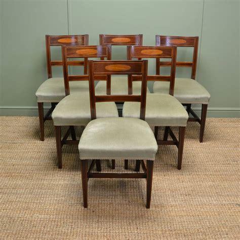 mahogany dining sets stunning set of six regency inlaid mahogany antique dining 3951