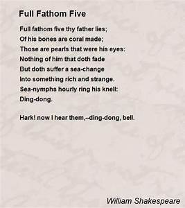 Full Fathom Five Poem By William Shakespeare Poem Hunter