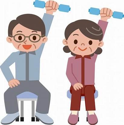 Exercise Chair Clipart Seniors Elderly Exercising Exercises
