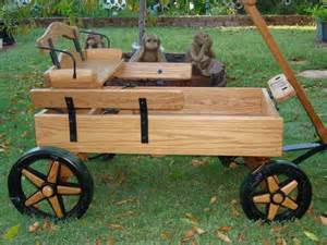 how to make a wooden wagon planter