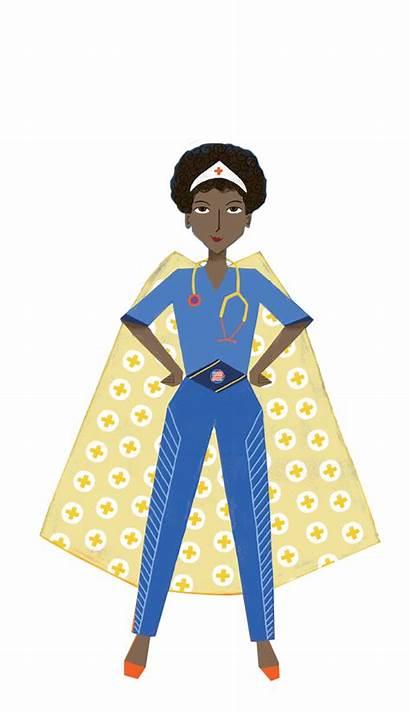 Nurse Superhero Hero Cape Clipart Week Jing