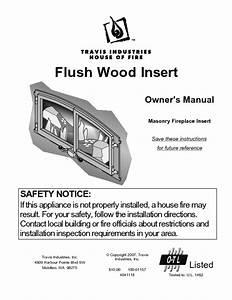 Flush Wood Insert Manuals