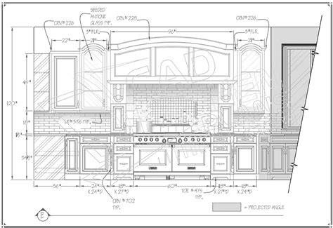 Beautiful Kitchen Cabinet Drawings  Autocad Samples