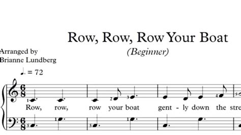 Row Your Boat Chords Piano by Row Row Row Your Boat Piano Sheet