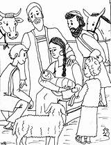 Jesus Birth Sketches Coloring Pages Sheet Story Template sketch template