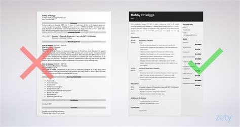 respiratory therapist resume sample skills objective